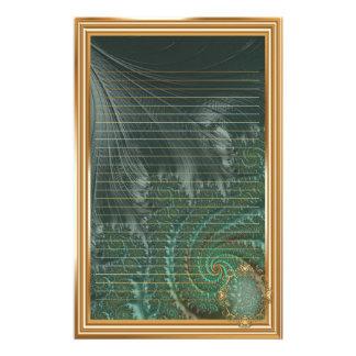 🦋Fancy Elegant Fractal With Cool Mandala Patterns Stationery