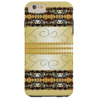 Fancy Elegant Golden Steampunk Fashion Tough iPhone 6 Plus Case