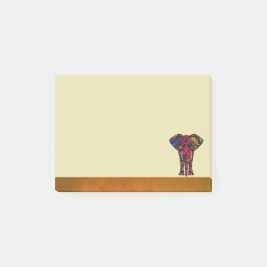 Fancy Elephant Design Bold Bright Colours Post-it Notes