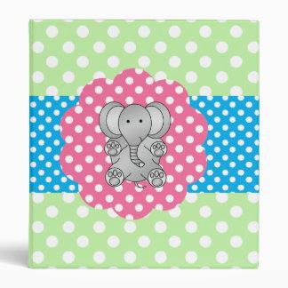 Fancy elephant polka dots binder