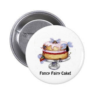 Fancy Fairy Cake! Collector Button 2 Inch Round Button