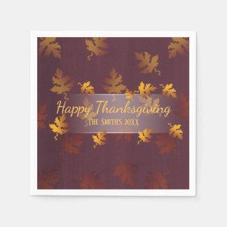 Fancy fall leaves| Thanksgiving dinner napkins Paper Napkins