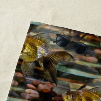 Fancy Fantail Goldfish Beach Towel