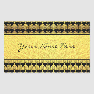 Fancy Faux Gold Art Deco with Name Sticker