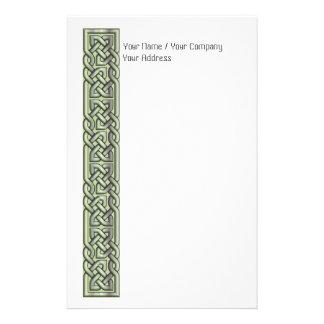 Fancy Filled Celtic Knots Green Stationery