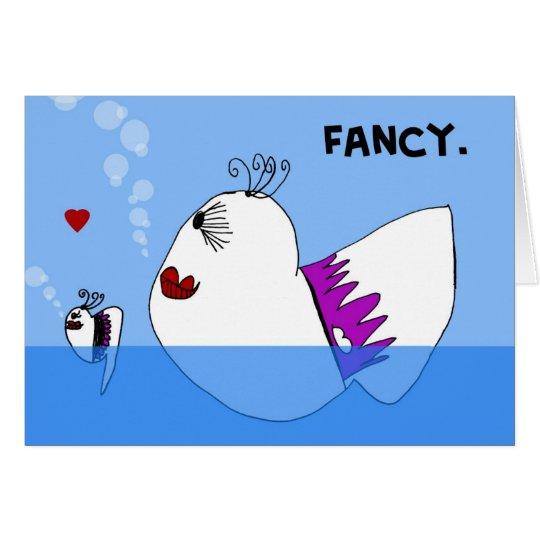 Fancy Fish Notecard