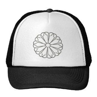 Fancy Fishing Hooks Flower Design Trucker Hat