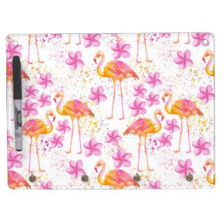 Fancy Flamingo Dry-Erase Board