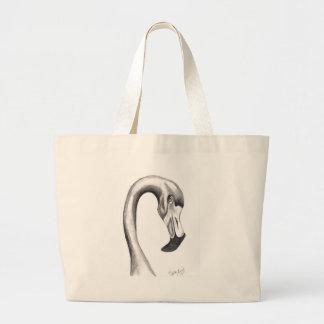 Fancy Flamingo Large Tote Bag