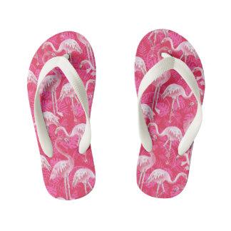 fancy flamingos kid's flip flops