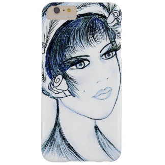 Fancy Flapper in Blues and Black Barely There iPhone 6 Plus Case