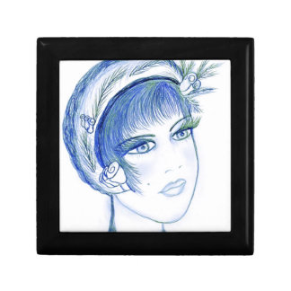 Fancy Flapper in Light Blues Gift Boxes