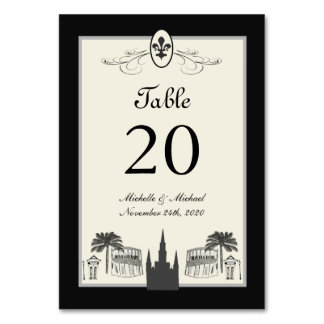 Fancy Fleur de Lis New Orleans Scene Card