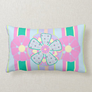 Fancy Floral Pillow - Stripe