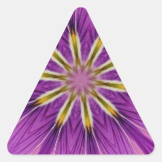 Fancy Floral Winterberry Sugarplum Kaleidoscope Triangle Sticker