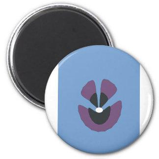 fancy flower 2 inch round magnet
