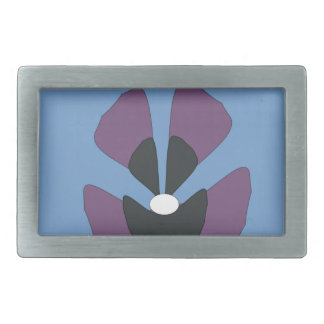 fancy flower rectangular belt buckle