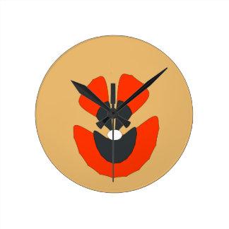 fancy flower round clock