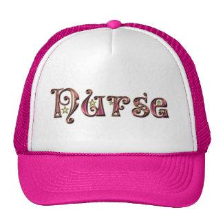 Fancy Font Nurse-Purple Trucker Hat