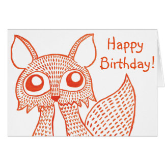 Fancy Fox Greetings Card: Happy Birthday! Card