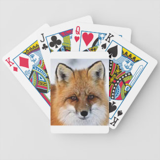 fancy fox picture bicycle playing cards