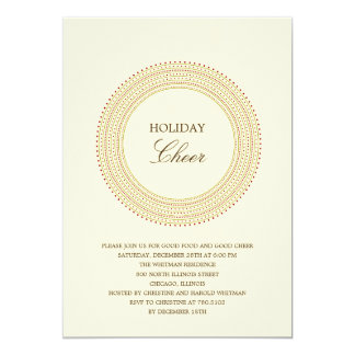 Fancy Frame Holiday Party Invitations