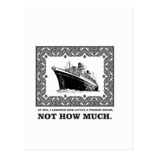 fancy framed oceanliner postcard