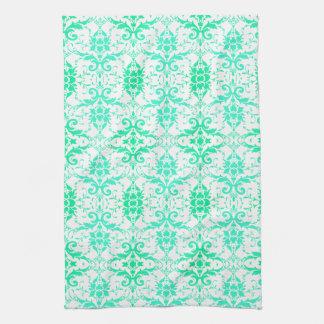 Fancy Fun Aqua Green Kitchen / Bath Towels
