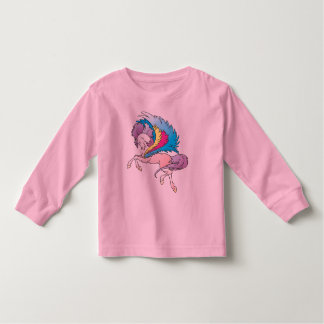 Fancy Fun Feathers Rainbow Horse Pony Shirt