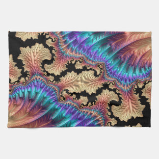 Fancy & Fun Fractals With Cool Mandala Patterns Kitchen Towel