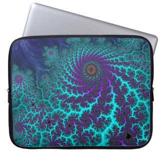 Fancy & Fun Fractals With Cool Mandala Patterns Laptop Sleeve