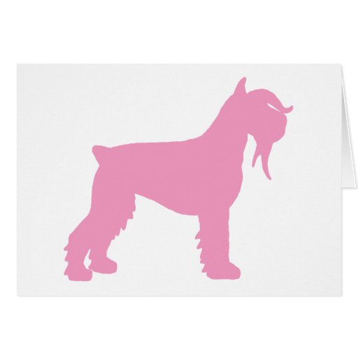Fancy Giant Schnauzer (pink) Greeting Card
