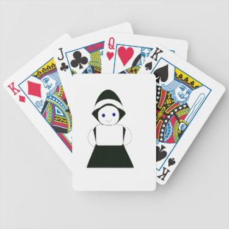 fancy girl bicycle playing cards