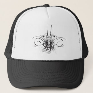 Fancy girl truck hat black and white customized