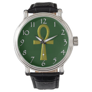 Fancy Gold Ankh Watches