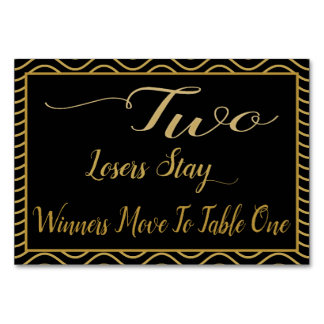 Fancy Gold Bunco Table Card #2