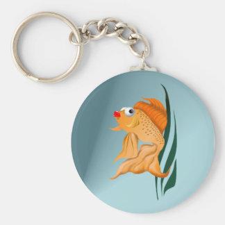 Fancy Gold Fish Keychain