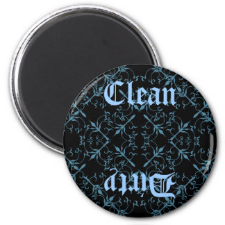 Fancy Gothic clean or dirty diswasher magnet
