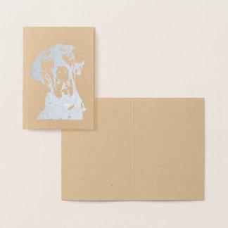Fancy Great Dane Print Foil Card