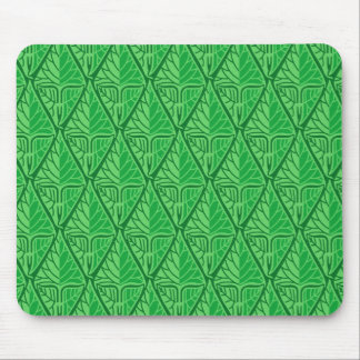 Fancy Green Tropical Leaves Mouse Pad