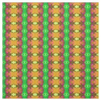 Fancy Green Yellow Fractal Fabric