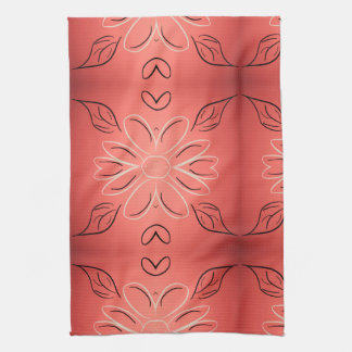 Fancy Hand Towel With Rusty Coral