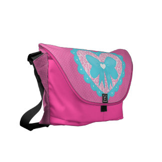 Fancy Heart (Leopard) Messenger Bag
