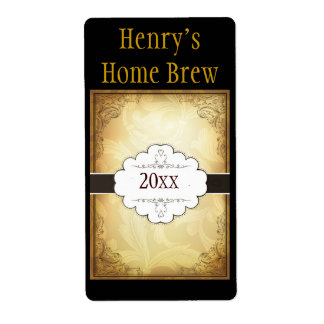 Fancy Home Brew Label