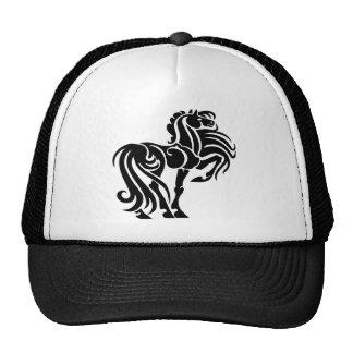 Fancy horse art trucker hat