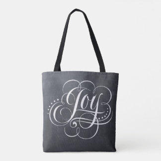 Fancy Joy Christmas Chalkboard Chalk Lettering Tote Bag
