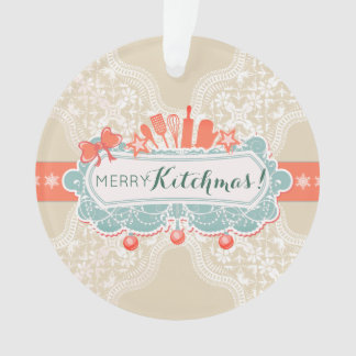 Fancy kitchen utensils culinary Christmas ornament