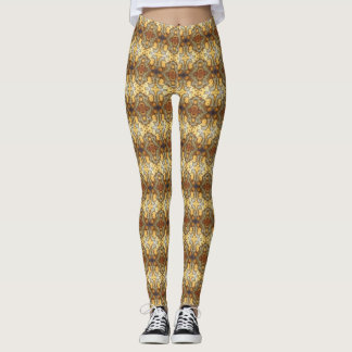 Fancy Leopard Skin Natural Rock Photo Designed Leggings