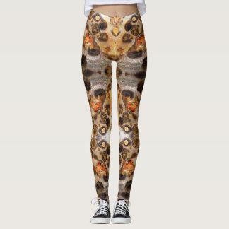 Fancy Leopard Skin Rock Photo Designed Colour Leggings