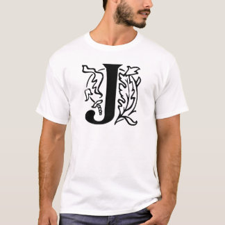 Fancy Letter J T-Shirt